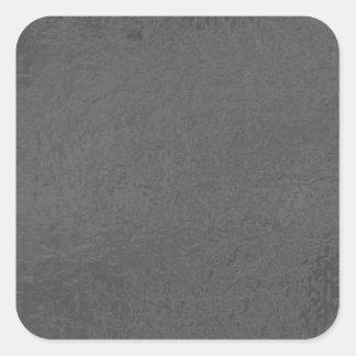 BNW kreist n-Text-Proben - Weiß auf Schwarzem ein Quadratischer Aufkleber