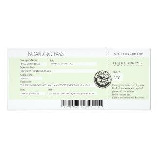 Boarding-Durchlauf 10,2 X 23,5 Cm Einladungskarte