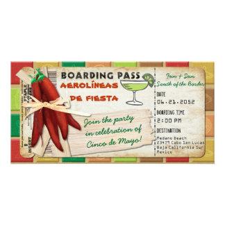 Boarding-Durchlauf-Einladung Fiesta Cinco Des Mayo Karte