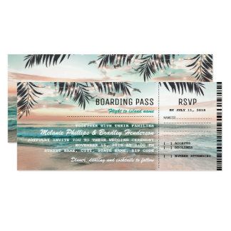 Boarding-Durchlauf-etikettiert tropische Karte