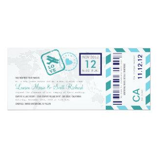 Boarding-Durchlauf-Luftpost-Karten-Einladung 10,2 X 23,5 Cm Einladungskarte