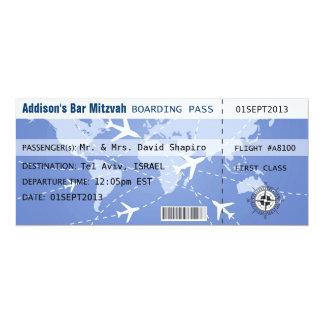 Boarding-Durchlauf Placecard 10,2 X 23,5 Cm Einladungskarte