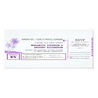 Boardingdurchlauf-Flughochzeit lädt mit UAWG ein 10,2 X 23,5 Cm Einladungskarte