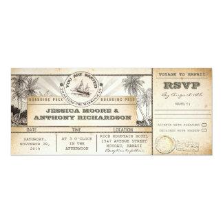 Boardingdurchlaufhochzeits-Karteneinladungen 10,2 X 23,5 Cm Einladungskarte