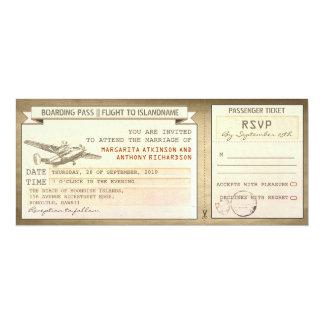 Boardingdurchlaufkarten - Vintage 10,2 X 23,5 Cm Einladungskarte