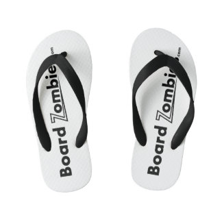 BoardZombies drehen Reinfall-Schwarz-weiße Kinderbadesandalen