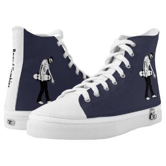 BoardZombies Weg-hallo oberste weiße graue Hoch-geschnittene Sneaker