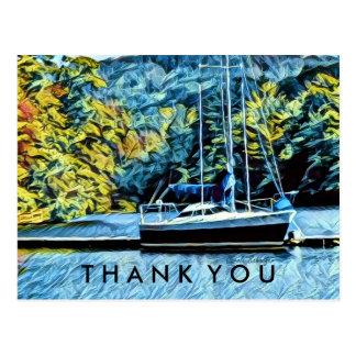 Boat See-Haus danken Ihnen Postkarte
