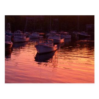 Boatyard am Sonnenuntergang Postkarte