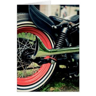 Bobber Harley Motorrad-Radfahrer-Geburtstags-Karte Karte