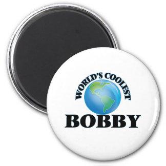 Bobby le plus frais du monde magnet rond 8 cm