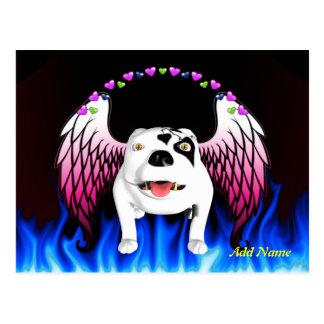 Bobo der Teufel-Hund tut Engel Postkarte