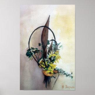 Bodegón der Blumen/Still life of flowers Poster