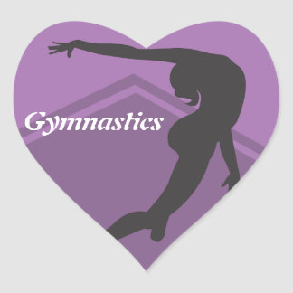 Boden-Übungs-Gymnastik-Aufkleber Herz-Aufkleber