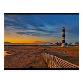 Bodie-Leuchtturm, North Carolina Postkarte