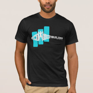 Bodybuilder Pro mit blauem Bar Schwarz-T - Shirt