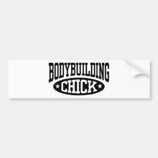 Bodybuildings-Küken Autoaufkleber