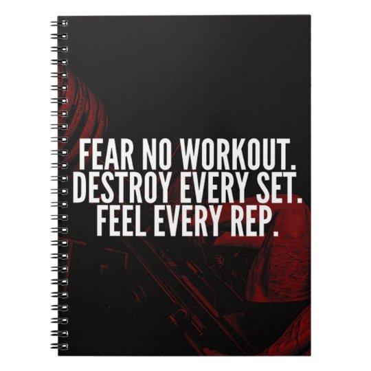 BodybuildingWorkout motivierend Notizblock