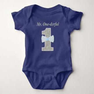 Bodysuit Herr-ONE-derful Baby Jersey, Herr Baby Strampler