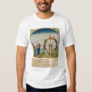 Boethius avec la roue de la fortune tee-shirts