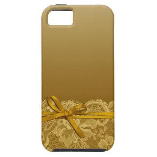 Bogen-Band u. schnüren sich | Gold iPhone 5 Etui