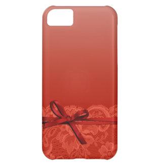 Bogen-Band u. schnüren sich   Koralle iPhone 5C Hülle