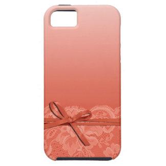 Bogen-Band u. schnüren sich | Pfirsich Schutzhülle Fürs iPhone 5