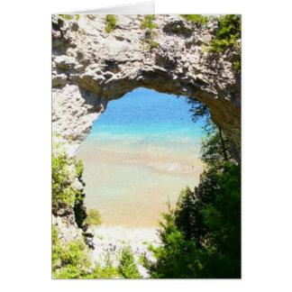 Bogen-Felsen, Mackinac Insel Grußkarte