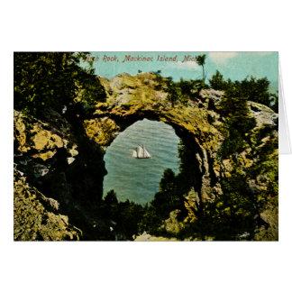 Bogen-Felsen Mackinac Insel, Michigan 1911 Karte