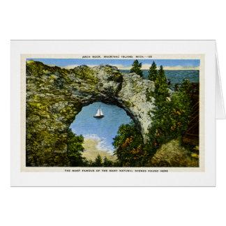 Bogen-Felsen Mackinac Insel, Michigan Grußkarte