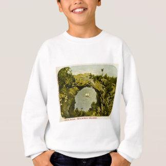Bogen-Felsen, Mackinac Insel Vintag Sweatshirt