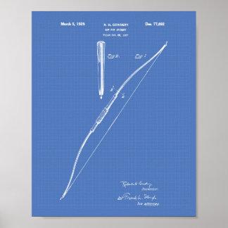 Bogen für Patent-Kunst-Plan des Bogenschießen-1929 Poster