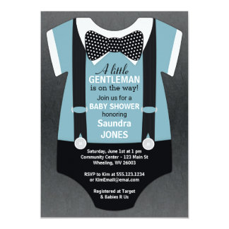 Bogen-Krawatten-Baby-Duschen-Einladung, Einladung