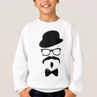 Bogen-Krawattenhut und -gläser Sweatshirt