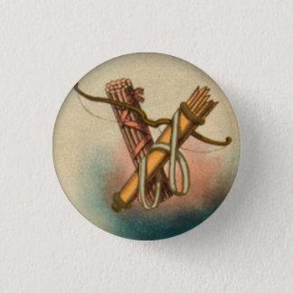 Bogen-Pfeil-Bündel des Stock-Knopfes Runder Button 2,5 Cm