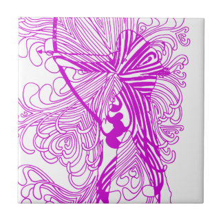 Bogenschießen-Frau Keramikfliese