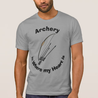 Bogenschießen ist wo meine Herz-humorvollen T - T-Shirt