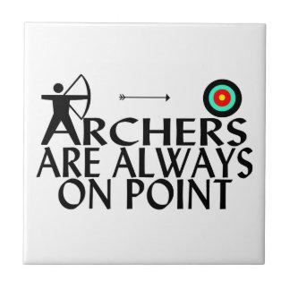Bogenschützen sind immer im Punkt Fliese