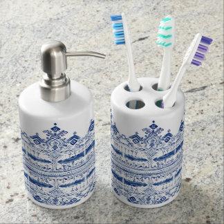 Bohem blaues Badezimmer-Set