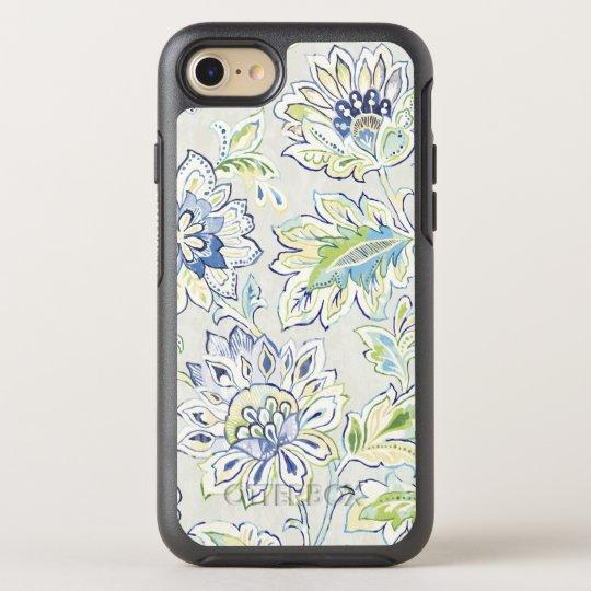 Böhmische blaue Blume OtterBox Symmetry iPhone 7 Hülle