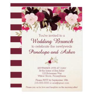 Böhmische Blumenposten-Hochzeits-Brunch-Einladung Karte