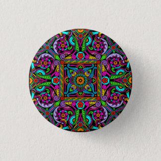 Böhmische Buntglas-Art Runder Button 3,2 Cm