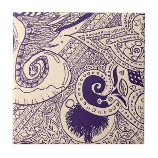 Böhmische Palme Keramikfliese