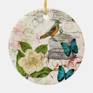 böhmischer schicker Schmetterling Rundes Keramik Ornament