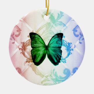 Böhmischer Wirbelsregenbogen färbt grünen Keramik Ornament
