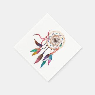 Böhmisches Dreamcatcher in der vibrierenden Papierserviette
