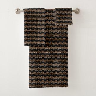 Boho aztekisches Stammes- inspiriertes Badhandtuch Set