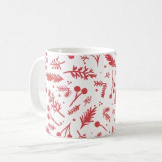 Boho Beeren-Feiertags-Tasse im Rot Kaffeetasse