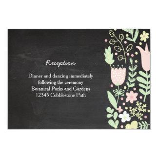 Boho Blumewreath-rustikale Tafel-Hochzeit 8,9 X 12,7 Cm Einladungskarte