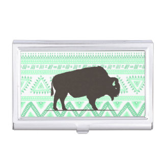 Boho Buffalo Business Card Holder